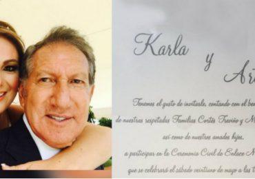 ¡Arturo Montiel y Karla Cortés se casaron!