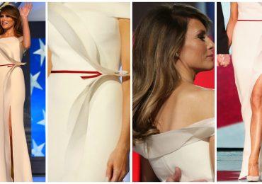 ¿Qué usó Melania Trump en su primer baile como Primera Dama?