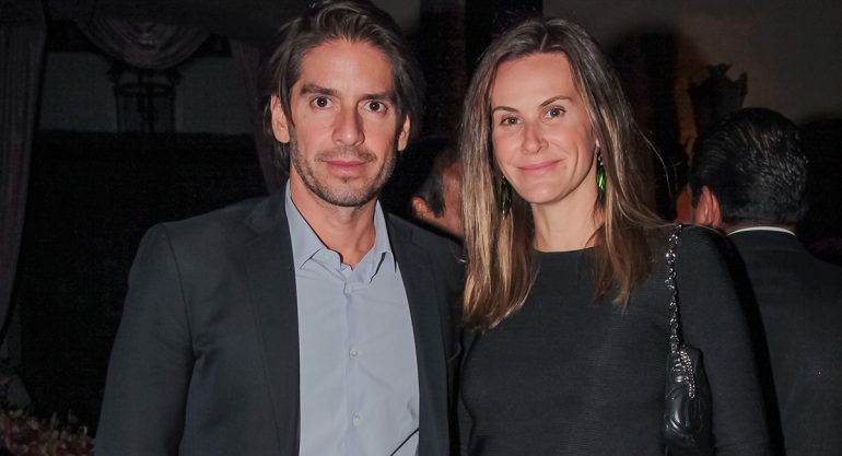 Abelardo Marcondes y Paula Trabulsi en la fiesta de San Valentín de Moët & Chandon