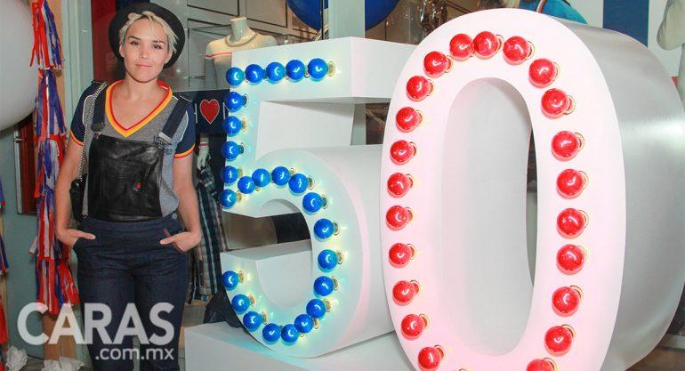 Alexa Iván en la apertura de la tienda número 50 de Tommy Hilfiger