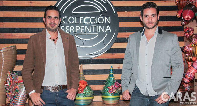 Anuar Zayrik y Pedro León en la apertura de Colección Serpentina