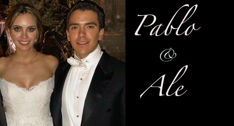 Así fue la boda de Pablo Zapata y Alessandra Lancaster