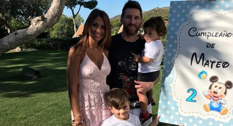 Así fue la divertida fiesta de cumpleaños del hijo de Messi