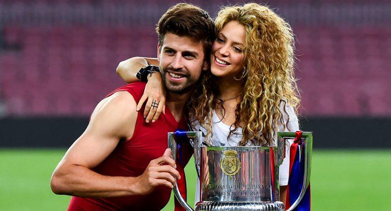 Atacan a Shakira y Gerard Pique durante partido del Barça