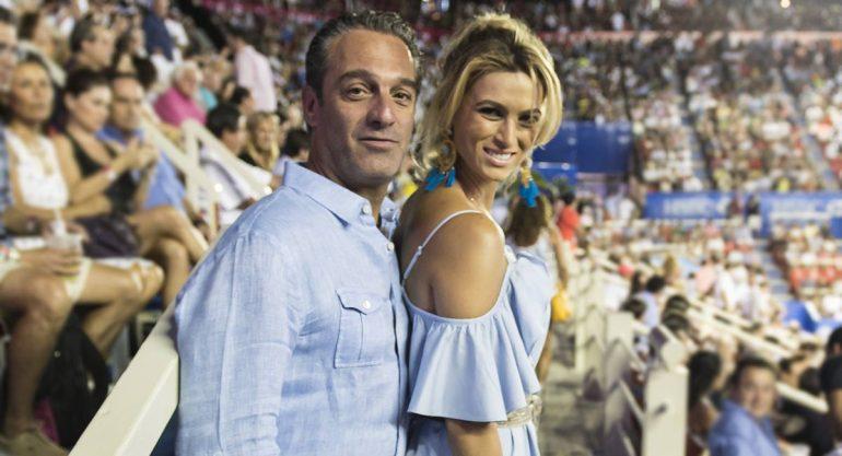 Carlos Slim Domit y María Elena Torruco en la final del Abierto de Tenis Mexicano