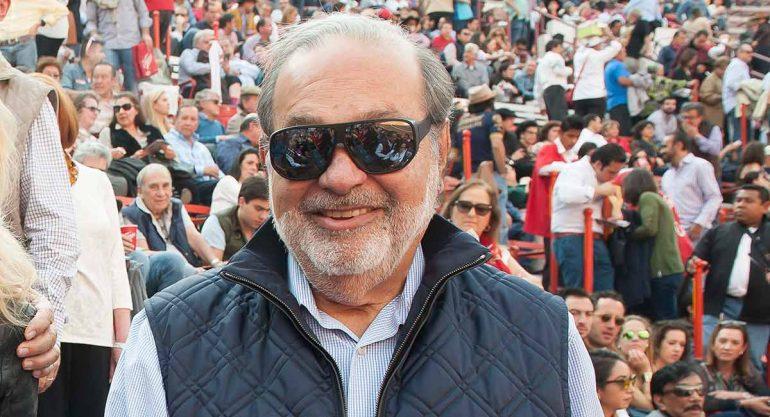 Carlos Slim en la Plaza de Toros México