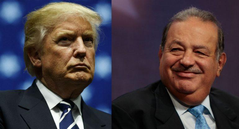 Carlos Slim se reunió con Donald Trump