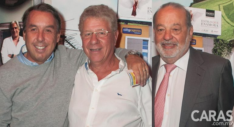 Carlos Slim y Emilio Azcárraga en la fiesta de Alazraki