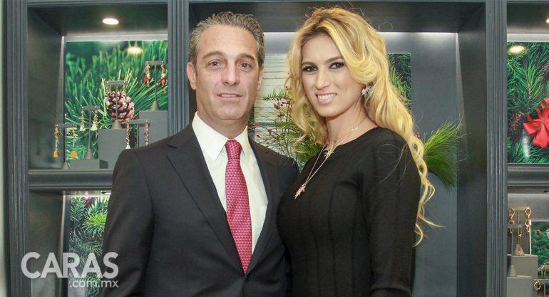 Carlos Slim y María Elena Torruco en la inauguración de Daniel Espinosa Jewerly