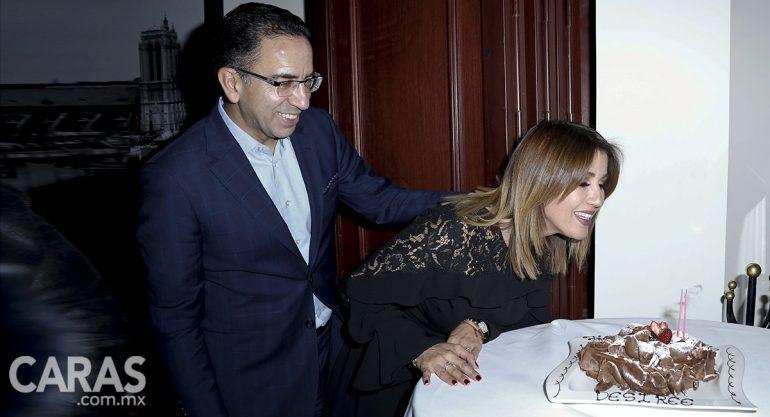Desirée Navarro festeja con Javier Lozano su cumpleaños más especial