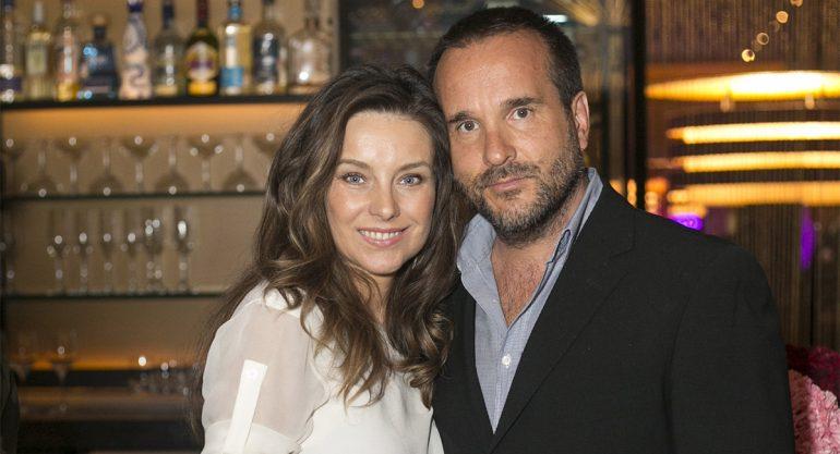 Dominika Paleta y Fabián Ibarra en el 5to Aniversario de J&G Grill