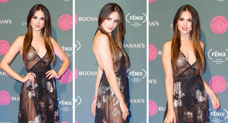 Eiza González sorprende con espectacular vestido en su regreso a México