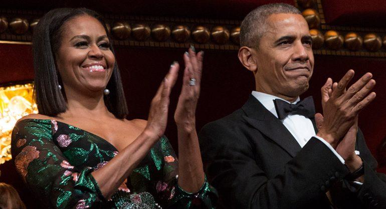 El espectacular look navideño de Michelle Obama