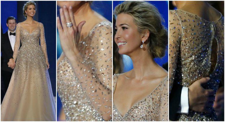 El look de Ivanka Trump en el baile presidencial