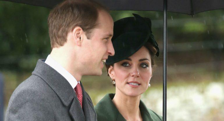 El príncipe Guillermo y Kate Middleton en la tradicional misa navideña