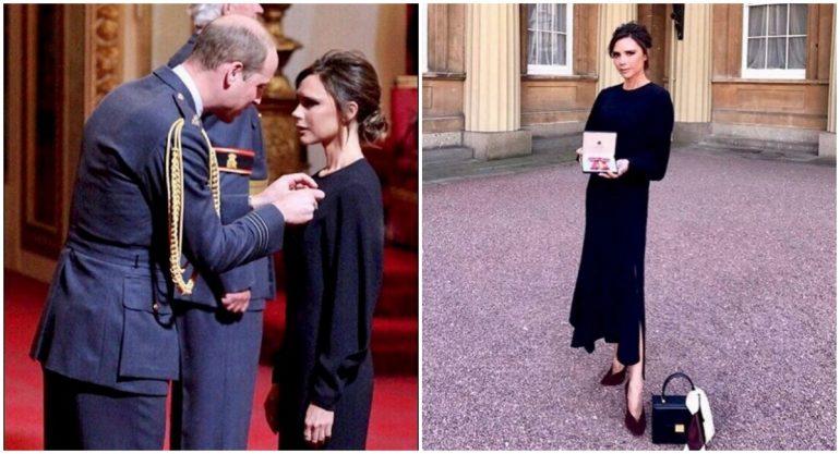 El príncipe William condecora a Victoria Beckham