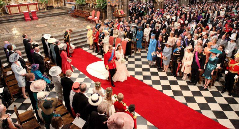 El protocolo de la boda real