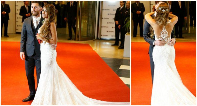El vestido de novia de Antonella Roccuzzo