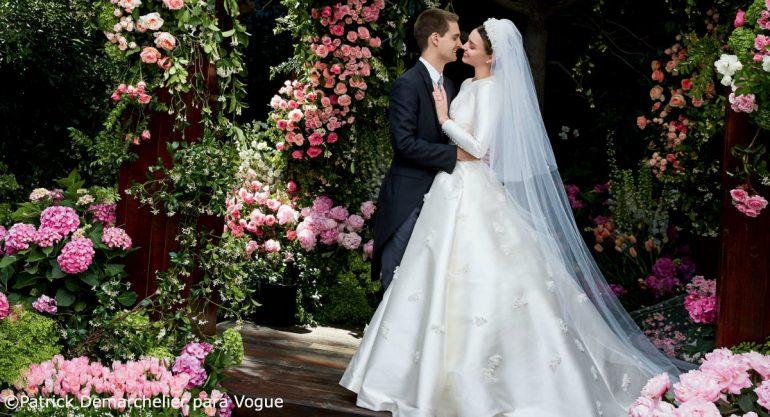 El vestido de novia de Miranda Kerr al estilo de Grace Kelly