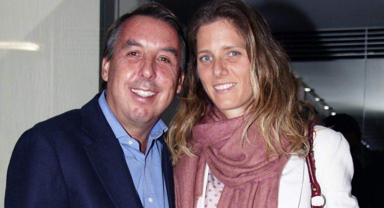 Emilio Azcárraga y Sharon Fastlicht en la presentación del reloj conmemorativo del América