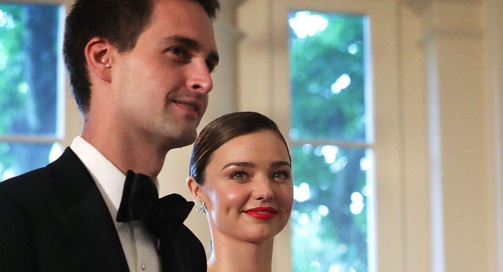 Evan Spiegel y Miranda Kerr ya son marido y mujer