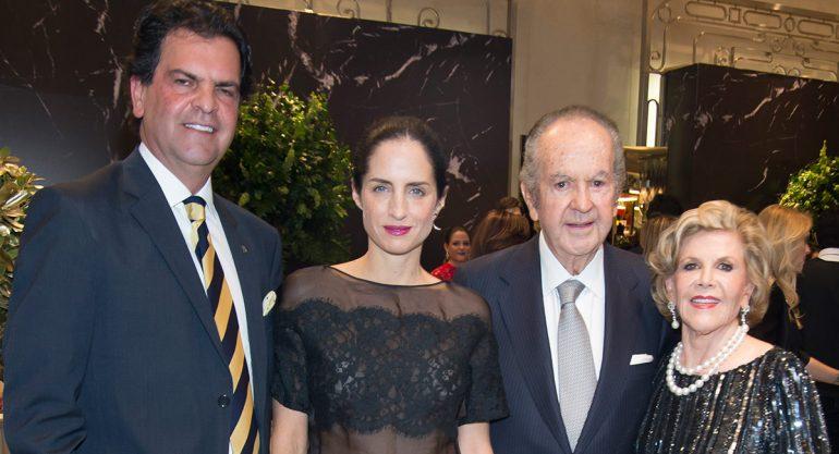 Familia Baillères con Carolina Herrera de Báez en la apertura de Palacio de los Palacios