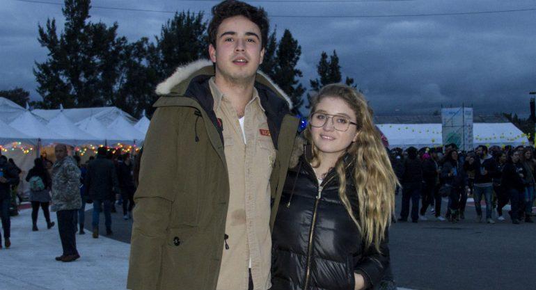 Fernanda Castro y Sebastian Pereyra en el primer día del Corona Capital