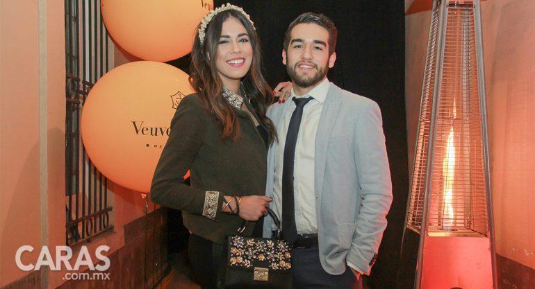 Fernanda Islas y Gerardo Bautista en la Champagne Fête de Veuve Clicquot