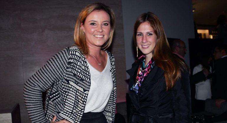 Fernanda Lascurain y Mariana Fontese en la presentación del nuevo Aston Martin