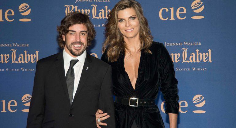 Fernando Alonso y Montserrat Oliver en la Blue Gala
