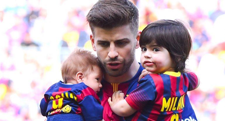 Gerard Piqué transmite amor por el deporte a sus hijos