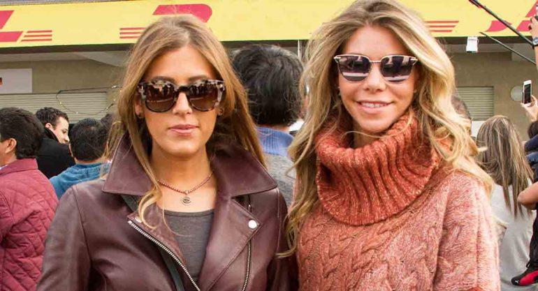 Giovanna Laposse y Paola Henaine en el Pit Lane Walk