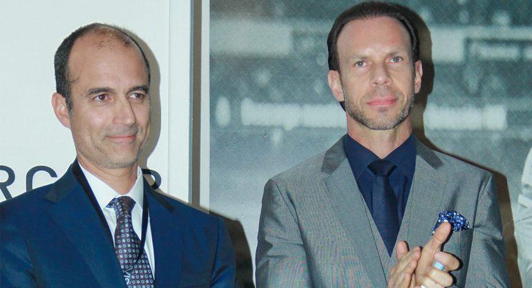 Guillermo Cantú y Luis Roberto Álves Zague en el Salón Internacional de la Alta Relojería