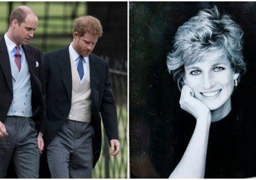 Harry y William recuerdan a Lady Di en ceremonia íntima