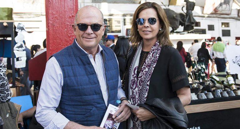 Javier Sordo y Paula de Haro en la Plaza de Toros México