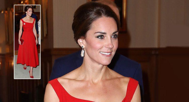 Kate Middleton deslumbra en Canadá con elegante vestido rojo