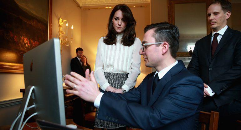 Kate Middleton se convierte en periodista