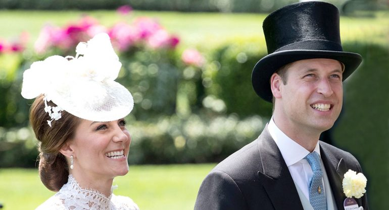 Kate Middleton y el príncipe William en el Royal Ascot