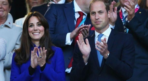 Kate y William apoyan al príncipe Harry en la inauguración de la Rugby World Cup