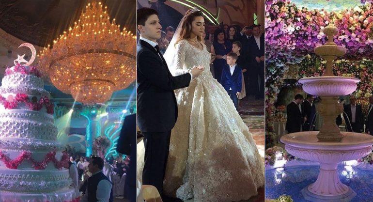 La fastuosa boda de  Said Gutseriev y Khadija Saeed