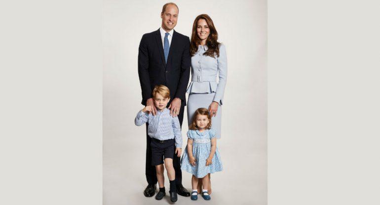 La postal navideña de los duques de Cambridge