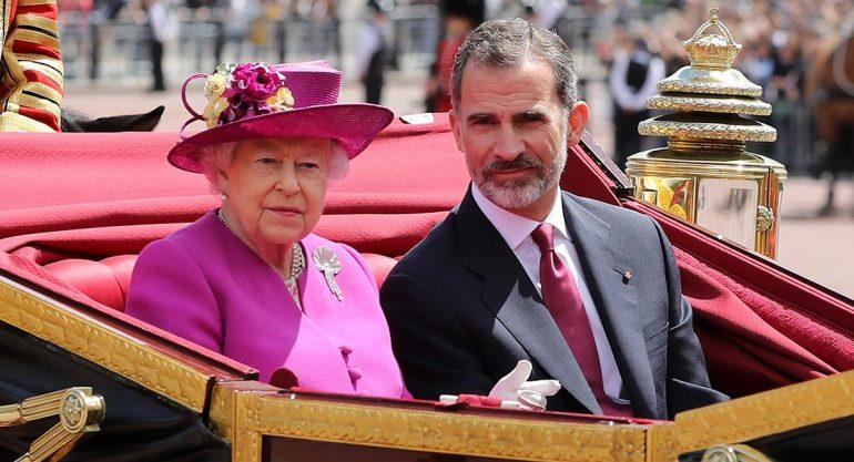 La reina Isabel recibe a los Reyes de España en Londres