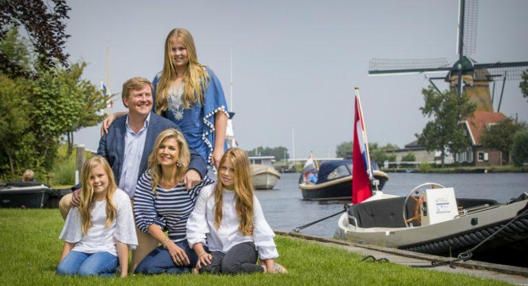 La sesión de fotos de verano de la familia real de Holanda