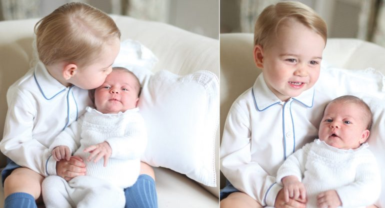 Las fotos más tiernas de la princesa Charlotte y el príncipe George