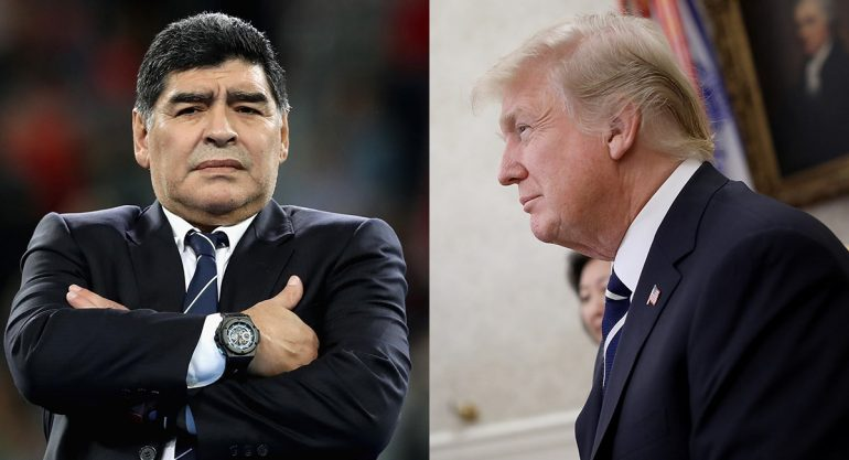 Le niegan visa a Maradona por hablar mal de Donald Trump