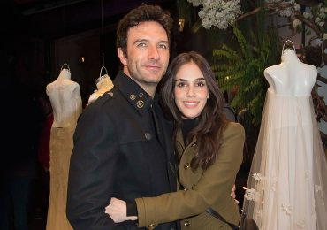 Leonardo de Lozanne y Sandra Echeverría en la presentación de la colección de Tristan e Isolda