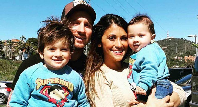 Lionel Messi celebra el cumpleaños de su hijo