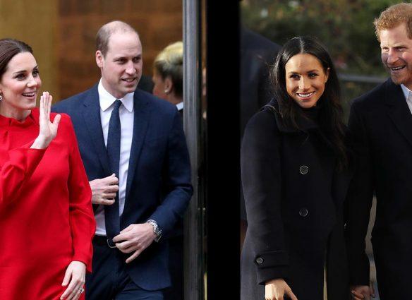 Harry y Meghan juntos a los duques de Cambridge