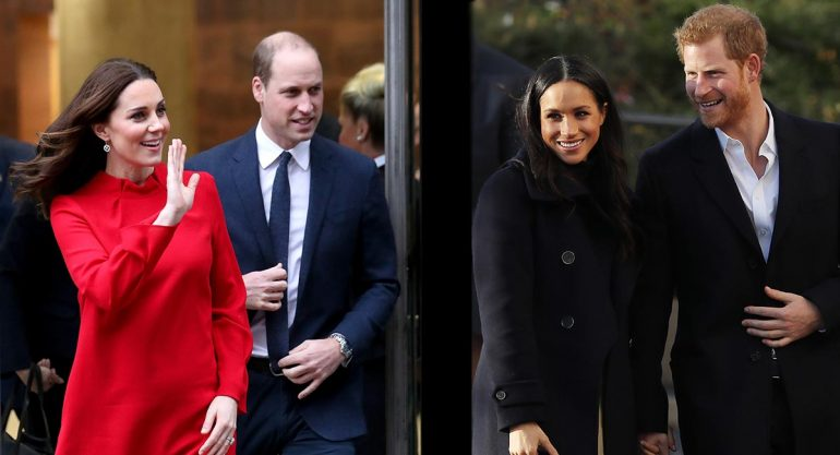 Harry y Meghan juntos a los duques de Cambridge