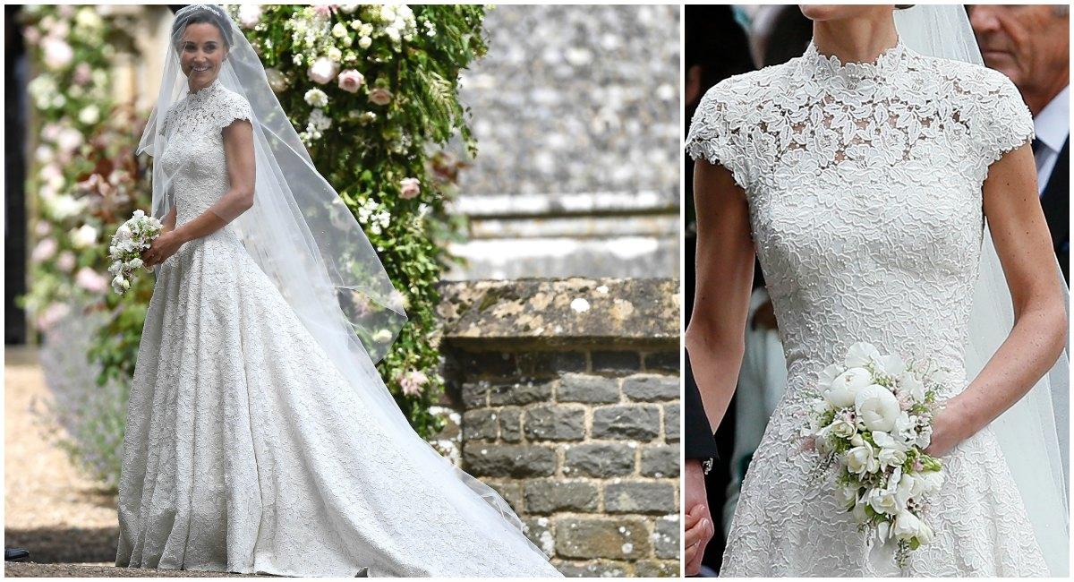 los detalles del vestido de novia de pippa middleton - revista caras